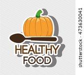 healthy vegetarian food label... | Shutterstock .eps vector #473630041