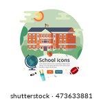vector education cover design.... | Shutterstock .eps vector #473633881