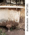 Weathered  Rusty Old Bath Tub...