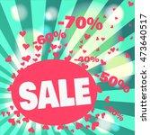 colorful sale banner design.... | Shutterstock .eps vector #473640517