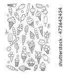 icecream collection  sketch for ... | Shutterstock .eps vector #473642434