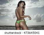 back bottom view of sexy young... | Shutterstock . vector #473645041