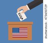 ballot box  person casting vote ...   Shutterstock .eps vector #473650729