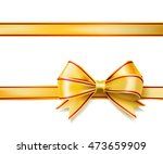 bright golden ribbon bow on... | Shutterstock .eps vector #473659909