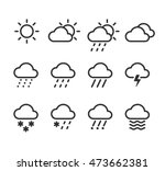 weather icons set. 12 isolated...
