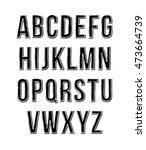 hand drawn sketch alphabet.... | Shutterstock .eps vector #473664739