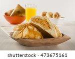 brazilian snack. chicken esfiha ... | Shutterstock . vector #473675161