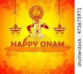 vector design of happy onam... | Shutterstock .eps vector #473675971