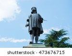 raphael's statue in urbino... | Shutterstock . vector #473676715