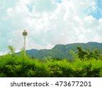 water tank tower in rural area | Shutterstock . vector #473677201