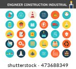 engineer construction... | Shutterstock .eps vector #473688349