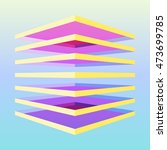 colorful 3d cube made by... | Shutterstock .eps vector #473699785