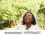 african american woman smiling | Shutterstock . vector #473701627