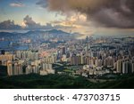 cityscape after sunrise from... | Shutterstock . vector #473703715