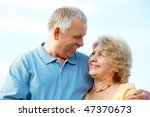 smiling happy elderly seniors... | Shutterstock . vector #47370673