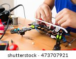 making of drone | Shutterstock . vector #473707921