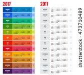2017 calendar  print template... | Shutterstock .eps vector #473710489