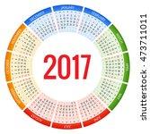 2017 calendar. print template.... | Shutterstock .eps vector #473711011