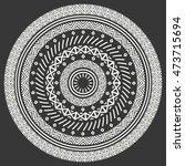 ethnic mandala. tribal hand... | Shutterstock .eps vector #473715694