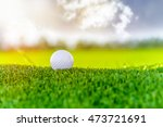 golf ball on tee ready to be... | Shutterstock . vector #473721691