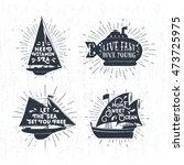 hand drawn textured vintage... | Shutterstock .eps vector #473725975