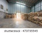 hemp sacks containing rice in... | Shutterstock . vector #473735545