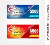 gift voucher template. can be...   Shutterstock .eps vector #473739001