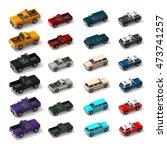 cartoon low polygon car 3d...   Shutterstock . vector #473741257