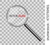 magnifying glass vector... | Shutterstock .eps vector #473750401