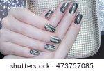 Metallic Nail Design . Manicur...