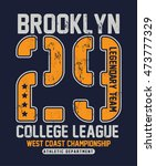 college new york typography  t... | Shutterstock .eps vector #473777329