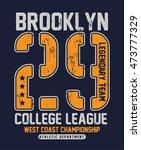 college new york typography  t... | Shutterstock .eps vector #473777329