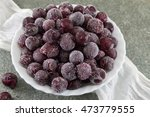 frozen grapes served in a white ... | Shutterstock . vector #473779555