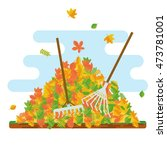 Vector Pile Of Autumn Leaves....