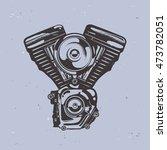 motorcycle   motorbike engine... | Shutterstock .eps vector #473782051