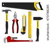 set of tools  worker kit....   Shutterstock .eps vector #473788285