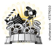 film premiere poster | Shutterstock .eps vector #47379010