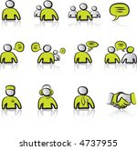 avatars   chat 1 icons set with ... | Shutterstock .eps vector #4737955