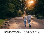 evening sun shines over the... | Shutterstock . vector #473795719