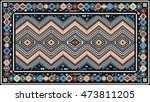 colorful rug with traditional... | Shutterstock .eps vector #473811205