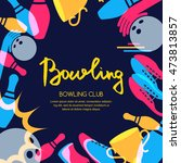 vector bowling square banner ... | Shutterstock .eps vector #473813857