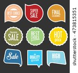 modern sale stickers and tags... | Shutterstock .eps vector #473815351
