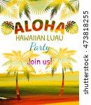 aloha hawaii  luau party... | Shutterstock .eps vector #473818255