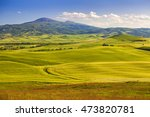 wheat field and countryside... | Shutterstock . vector #473820781