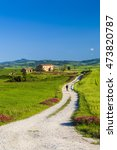tuscany landscape  | Shutterstock . vector #473820787