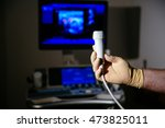 ultrasonic investigation... | Shutterstock . vector #473825011