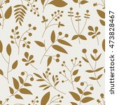 seamless pattern with gold... | Shutterstock .eps vector #473828467