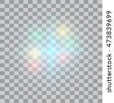 glow light effect. vector... | Shutterstock .eps vector #473839699