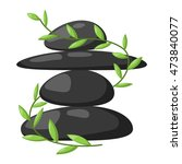 growing piled up pebbles on...   Shutterstock .eps vector #473840077