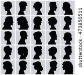 set of opposite sex avatars... | Shutterstock . vector #473850511